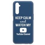 Чехол-накладка Krutoff Silicone Case YouTube для Realme 6 Pro синий