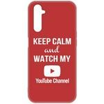 Чехол-накладка Krutoff Silicone Case YouTube для Realme 6/ 6s красный