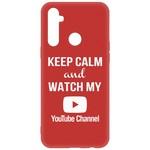 Чехол-накладка Krutoff Silicone Case YouTube для Realme 6i красный