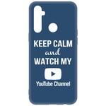 Чехол-накладка Krutoff Silicone Case YouTube для Realme 6i синий