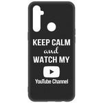Чехол-накладка Krutoff Silicone Case YouTube для Realme 6i черный
