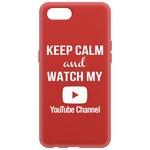 Чехол-накладка Krutoff Silicone Case YouTube для Realme C2 красный