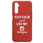 Чехол-накладка Krutoff Silicone Case Instagram для Realme 6 Pro красный