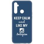 Чехол-накладка Krutoff Silicone Case Instagram для Realme 6i синий