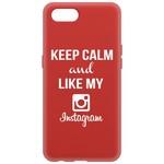 Чехол-накладка Krutoff Silicone Case Instagram для Realme C2 красный