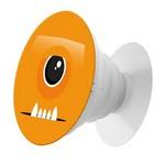 Пластмассовый держатель Krutoff для телефона Попсокет Оранжевый Монстр