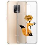 "Чехол-накладка Krutoff Clear Case ""Лиса"" для Xiaomi Redmi 10X 5G/10X Pro 5G"