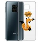 "Чехол-накладка Krutoff Clear Case ""Лиса"" для Xiaomi Redmi Note 9 Pro/Note 9S"