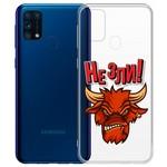 """Чехол-накладка Krutoff Clear Case """"Не Зли!"""" для Samsung Galaxy M31 (M315)"""