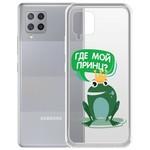 """Чехол-накладка Krutoff Clear Case """"Лягушка"""" для Samsung Galaxy A42 5G"""
