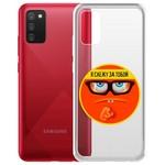 "Чехол-накладка Krutoff Clear Case ""Я Слежу за Тобой"" для Samsung Galaxy A02s (A025)"