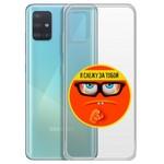 "Чехол-накладка Krutoff Clear Case ""Я Слежу за Тобой"" для Samsung Galaxy A51 (A515)"