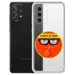 "Чехол-накладка Krutoff Clear Case ""Я Слежу за Тобой"" для Samsung Galaxy A72 (A725)"
