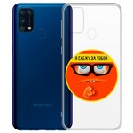 "Чехол-накладка Krutoff Clear Case ""Я Слежу за Тобой"" для Samsung Galaxy M31 (M315)"
