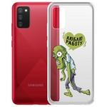 "Чехол-накладка Krutoff Clear Case ""Люблю Работу"" для Samsung Galaxy A02s (A025)"