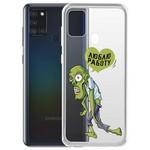 "Чехол-накладка Krutoff Clear Case ""Люблю Работу"" для Samsung Galaxy A21s (A217)"