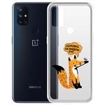 """Чехол-накладка Krutoff Clear Case """"Лиса"""" для OnePlus Nord N10 5G"""