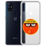 """Чехол-накладка Krutoff Clear Case """"Я Слежу за Тобой"""" для OnePlus Nord N10 5G"""