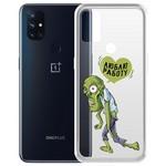 """Чехол-накладка Krutoff Clear Case """"Люблю Работу"""" для OnePlus Nord N10 5G"""