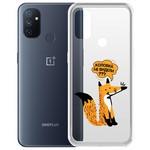 """Чехол-накладка Krutoff Clear Case """"Лиса"""" для OnePlus Nord N100"""