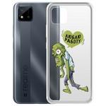 "Чехол-накладка Krutoff Clear Case ""Люблю Работу"" для Realme C11"