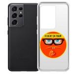"Чехол-накладка Krutoff Clear Case ""Я Слежу за Тобой"" для Samsung Galaxy S21 Ultra (G998)"
