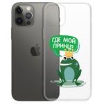 "Чехол-накладка Krutoff Clear Case ""Лягушка"" для iPhone 12 mini"