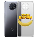 "Чехол-накладка Krutoff Clear Case ""Банан"" для Xiaomi Redmi Note 9T"