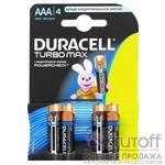 Батарейка Duracell Turbo ААА LR03-4BL